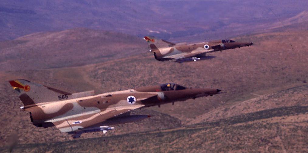 Pair of the Israeli Air Force Kfir fighters.