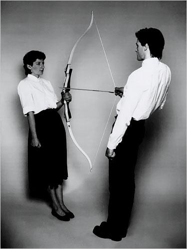 Marina Abramovic 'The story of bow and arrow'