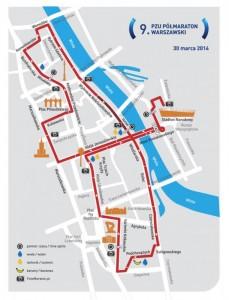 Trasa 9. PZU Półmaratonu Warszawskiego