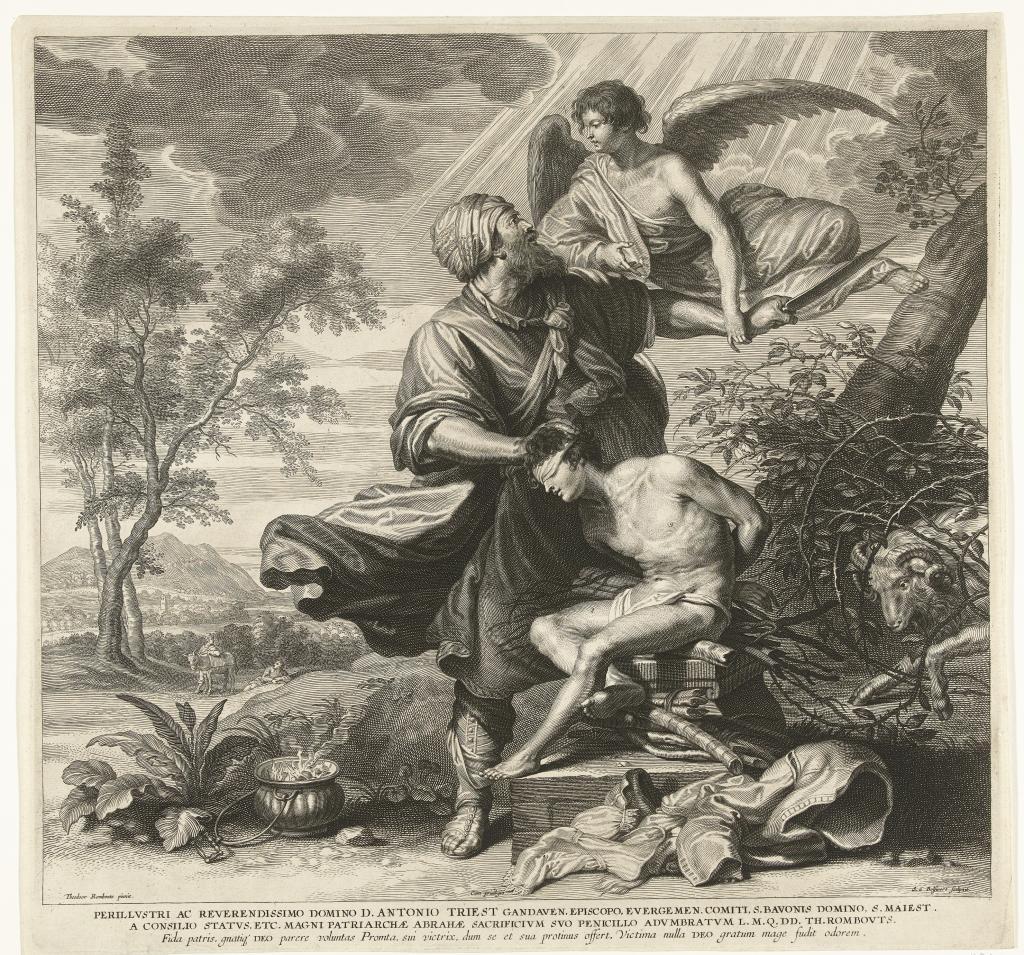 Schelte Adamsz Bolswert, Ofiara Abrahama, Rijksmuseum.