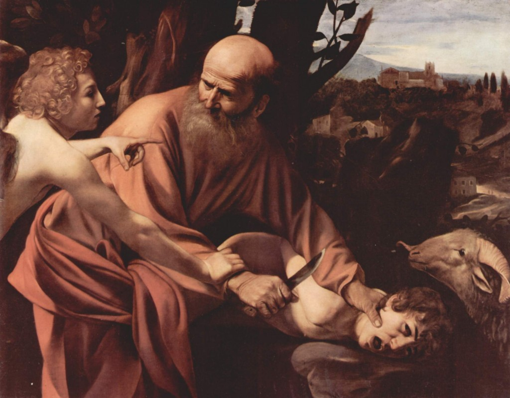 Caravaggio, Abraham ofiarowuje Izaaka, Wikipedia.