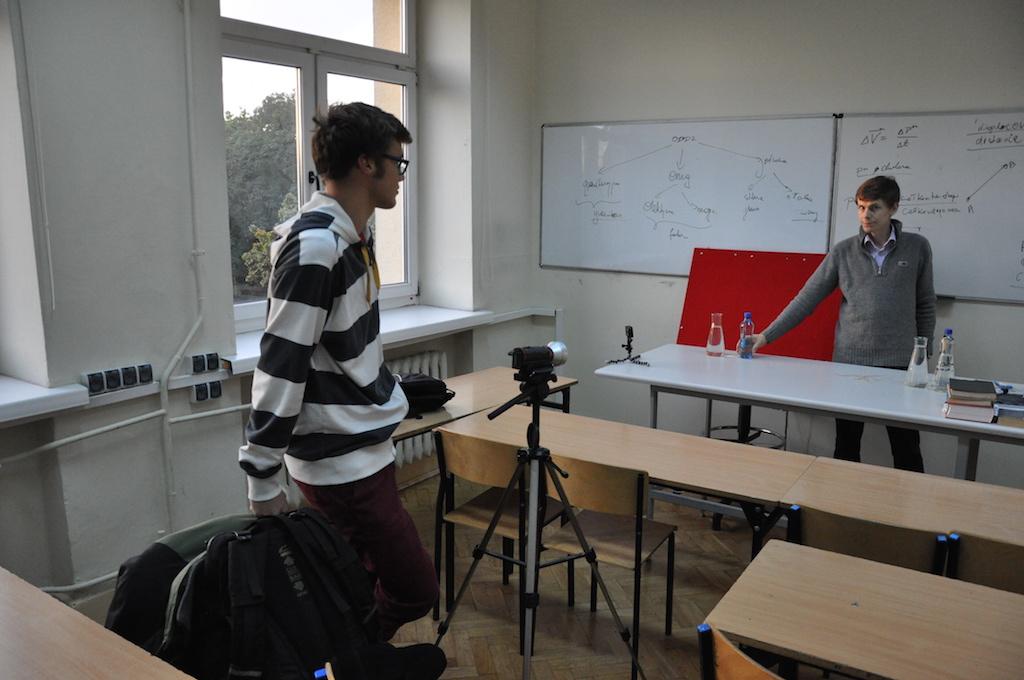 W czasie nagrania klipu Ciekawa fizyka cz.1.