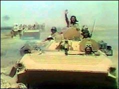 Iraqi troops enter Kuwait on  2 August 1990